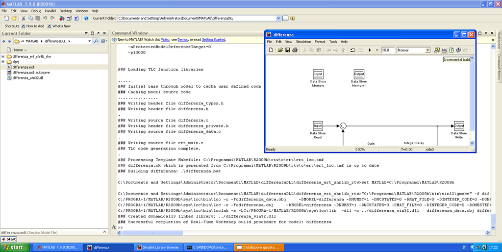 DLL creation from a Simulink model